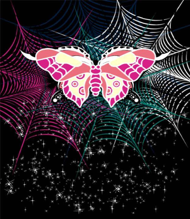 Butterfly in Web - TeabiscuitsArts