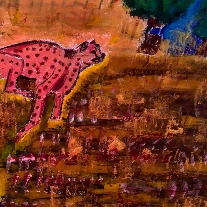 Fire  Cheetah - Breath Colour Infinity