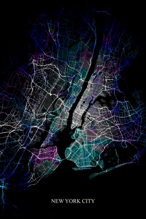 New York City Abstract Map - Art By Dominic