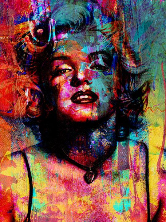 Marilyn Monroe Abstract Portrait - Art By Dominic