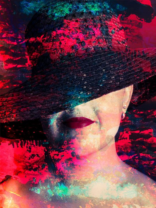 Portrait of Woman with Hat - Art By Dominic