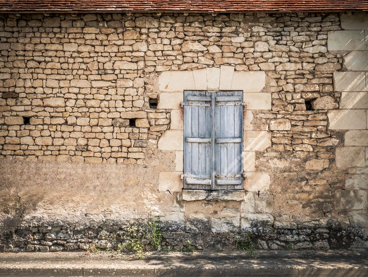 Old wall with Window Frame in France - Art By Dominic