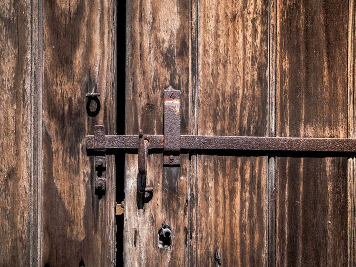 Old Gate with Rusty Lock - Art By Dominic