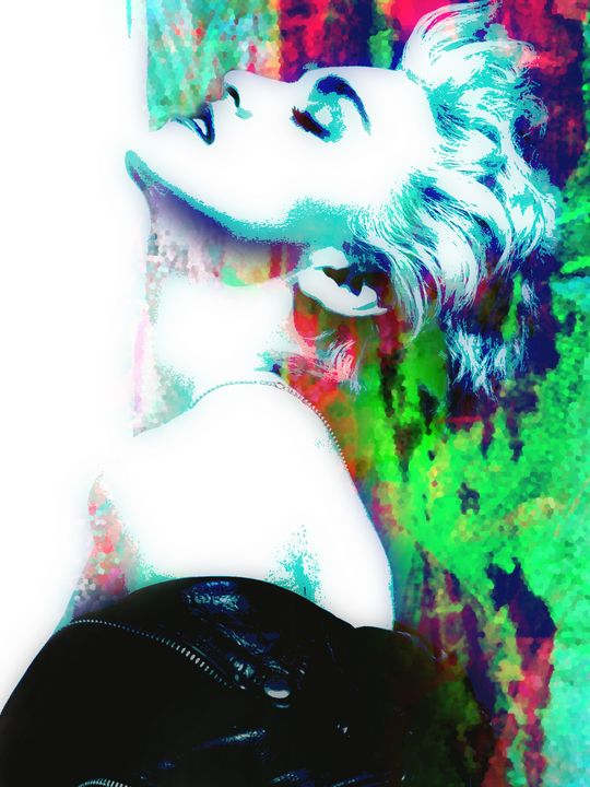 Madonna True Blue Abstract Portrait - Art By Dominic