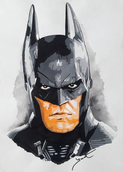 Batman Portrait - Celebrity Portraits by Risee Prabhakar