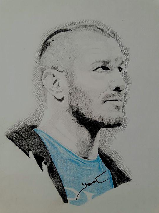 Randy Orton Portrait - Celebrity Portraits by Risee Prabhakar