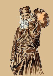Orthodox Monk Drawing 1
