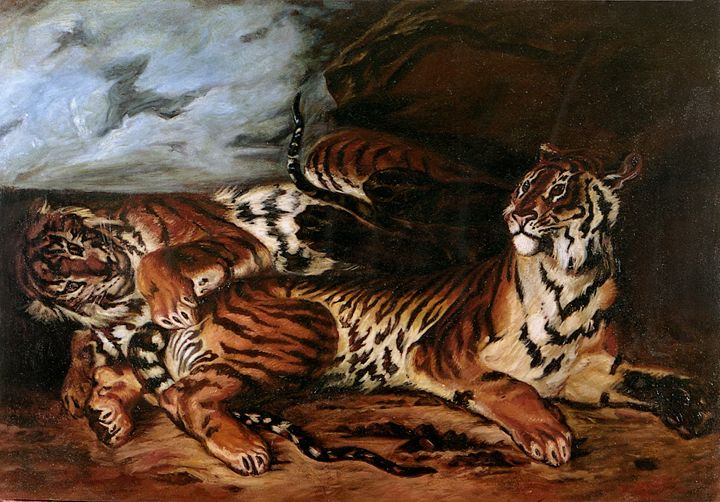 The Tigers oil on canvas - Yakovlyev