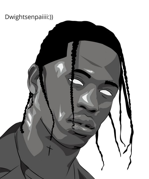 Travis Scott Vector Art - Dwight