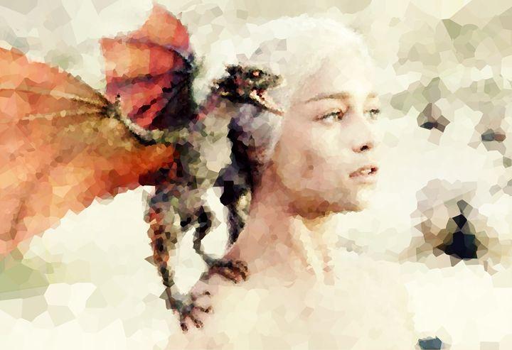 Daenerys Targaryen - Game of Thrones - Awesome Art