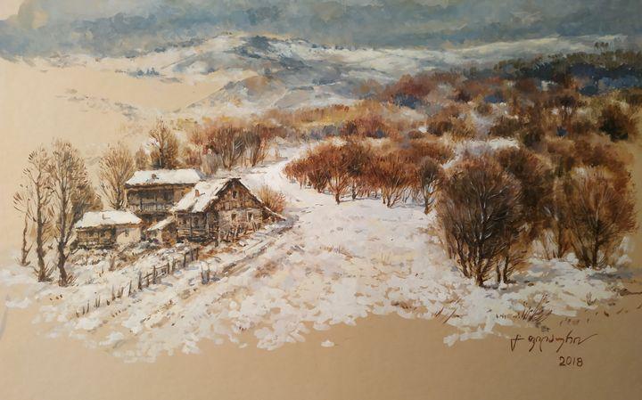 The Village in Winter - Gela Philauri