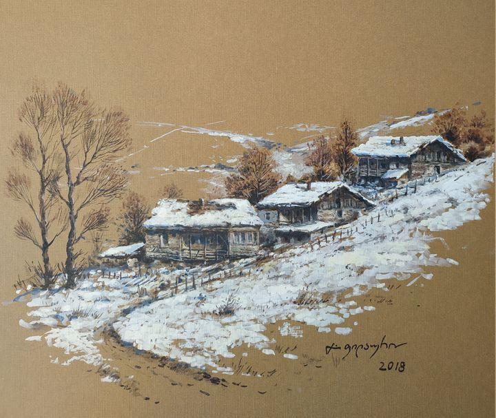 The Village in Mountains - Gela Philauri
