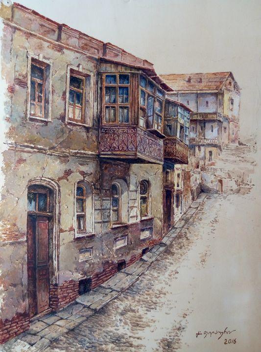 Old House in Abanotubani, Tbilisi - Gela Philauri