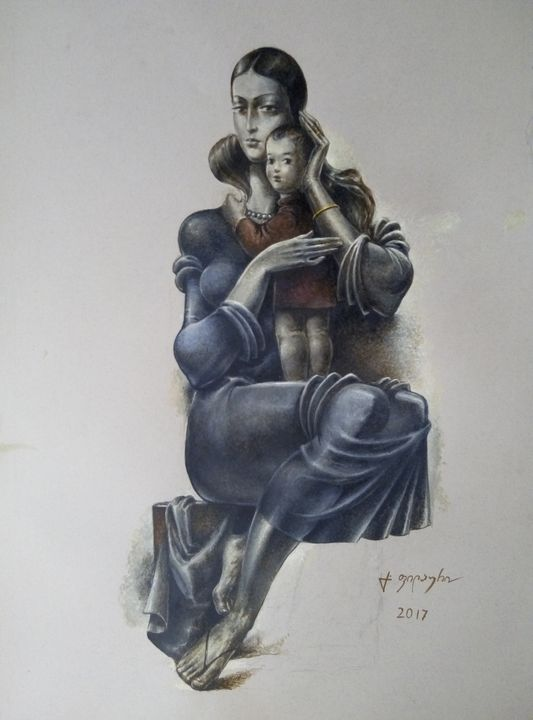 Mother and Child - Gela Philauri
