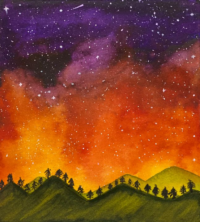 Hand Made Aurora Painting - Happy Creations
