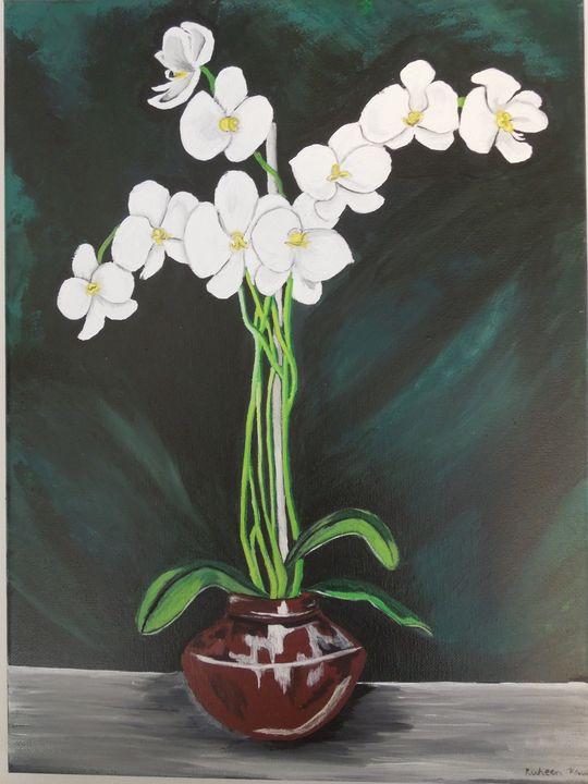 White Orchids - Ruheen's Artshop