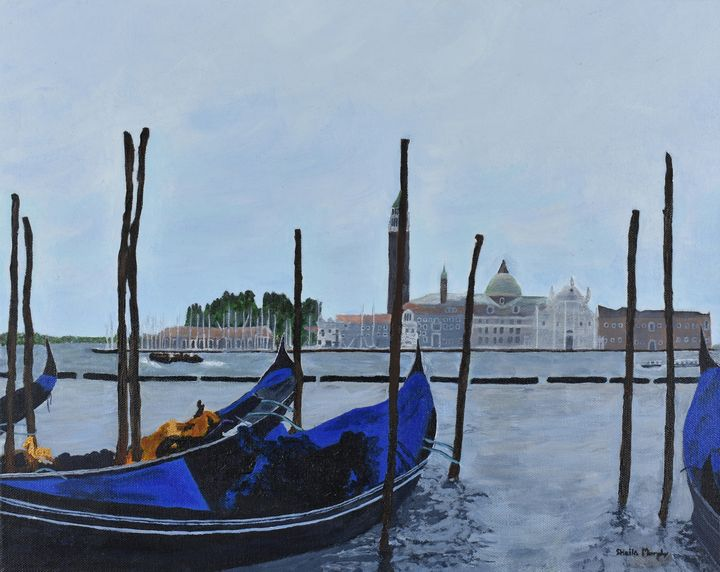 Gondolas in Venice - Paintings by Sheila Murphy