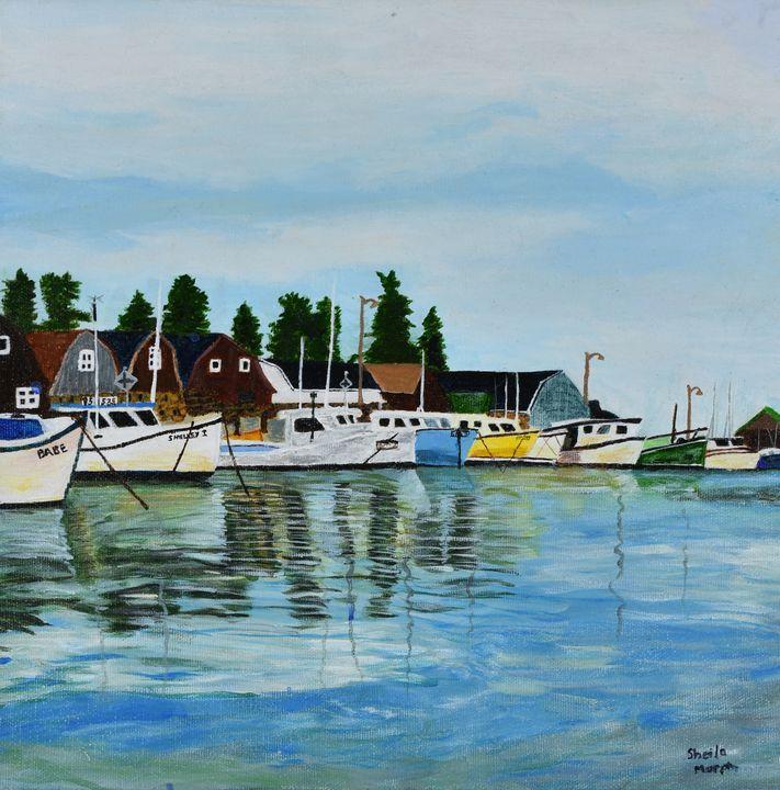 Fishing Boats - Paintings by Sheila Murphy