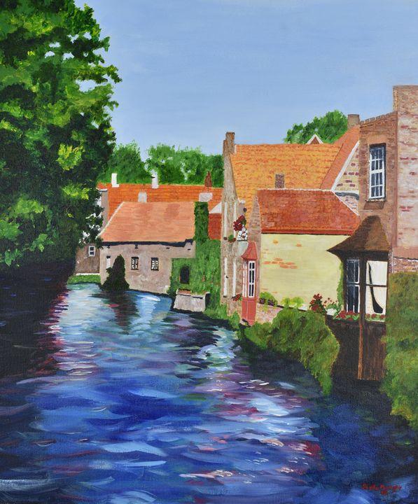 Homes, Bruges (Brugge), Belgium - Paintings by Sheila Murphy