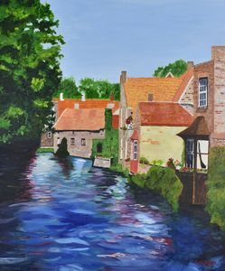 Homes, Bruges (Brugge), Belgium - Paintings by Sheila Murphy
