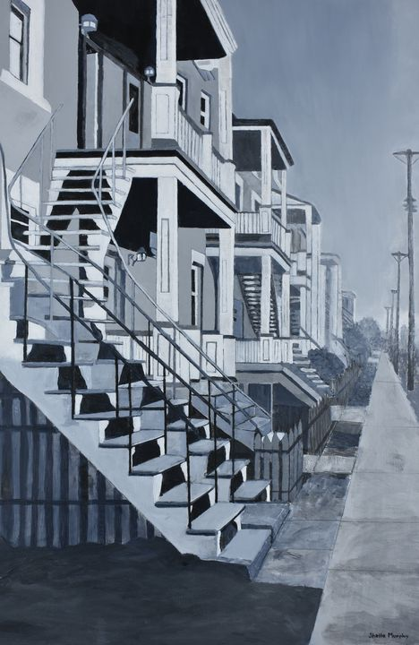 Saint-Dominique Street, Montreal - Paintings by Sheila Murphy