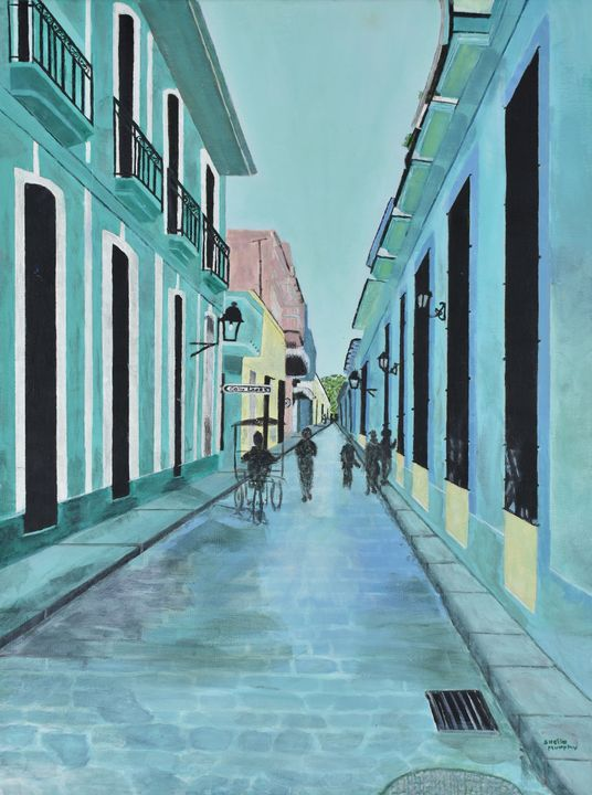 Quiet Moment on Havana Street - Paintings by Sheila Murphy
