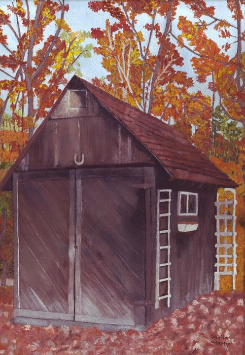 Old Shed in Autumn - Paintings by Sheila Murphy