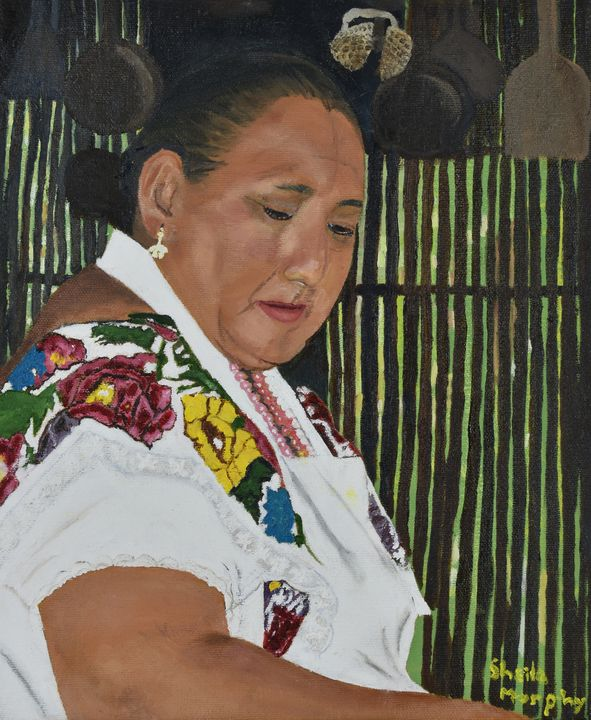 Portrait of a Mayan Woman - Paintings by Sheila Murphy