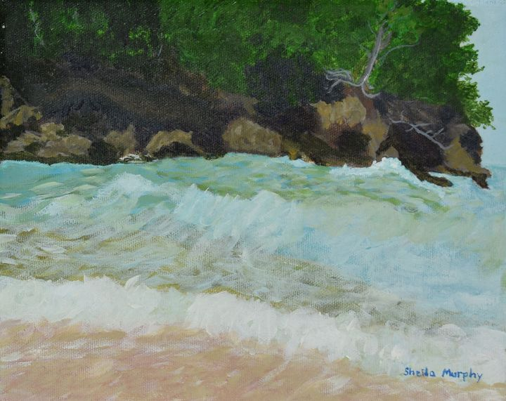 Rough Jamaican Surf - Paintings by Sheila Murphy