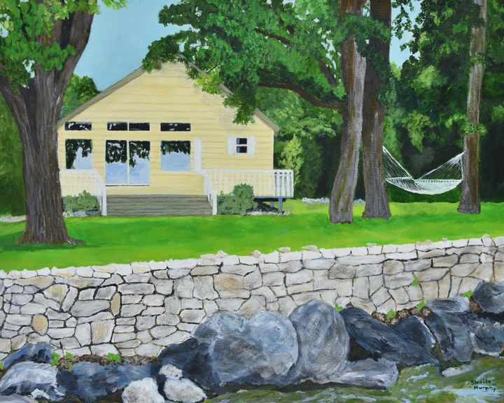 The Yellow Cottage - Paintings by Sheila Murphy