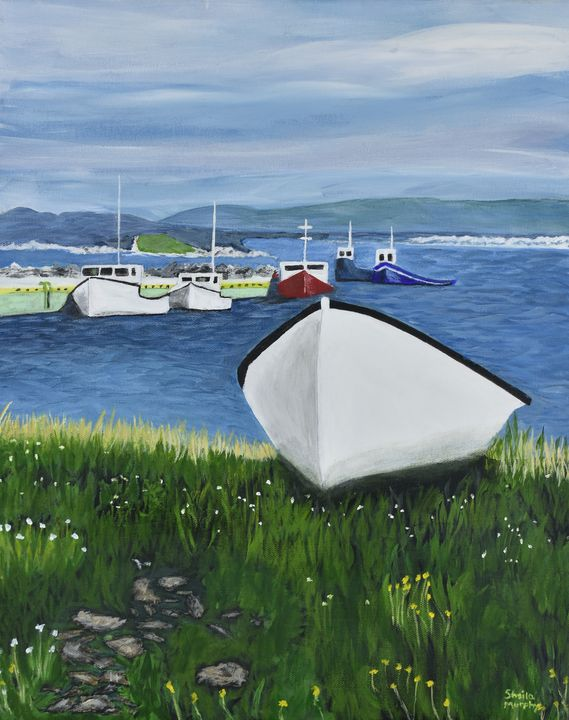 Boats in the Bay - Paintings by Sheila Murphy