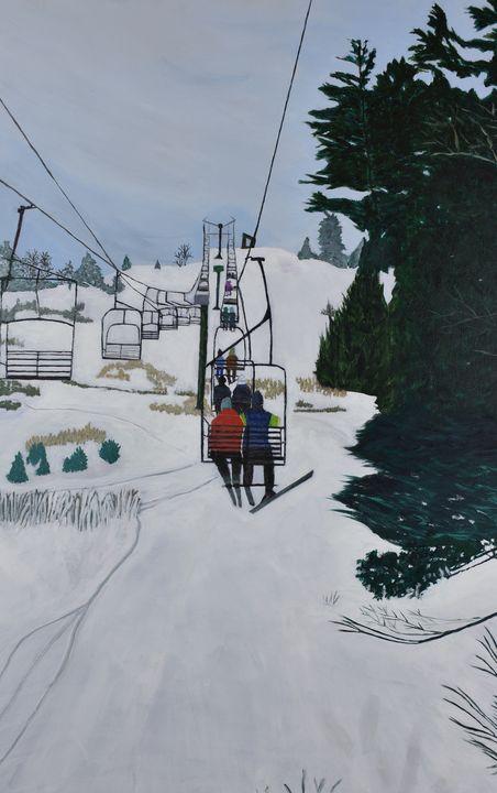 Chairlift, Mount Pakenham - Paintings by Sheila Murphy