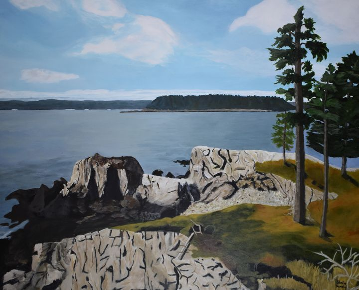 New River Beach Coastal Trail - Paintings by Sheila Murphy