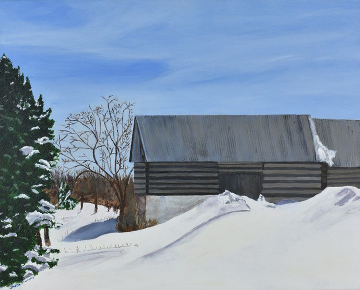 Rustic Barn, Goulbourn Township - Paintings by Sheila Murphy