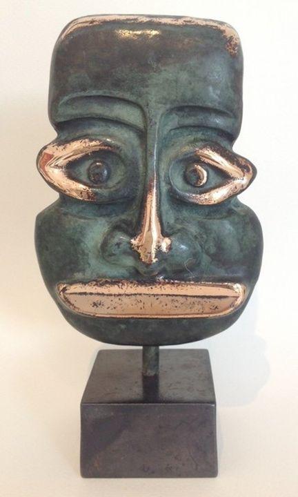 Mask green - Bronze art