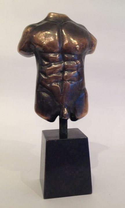Torso in bronze - Bronze art