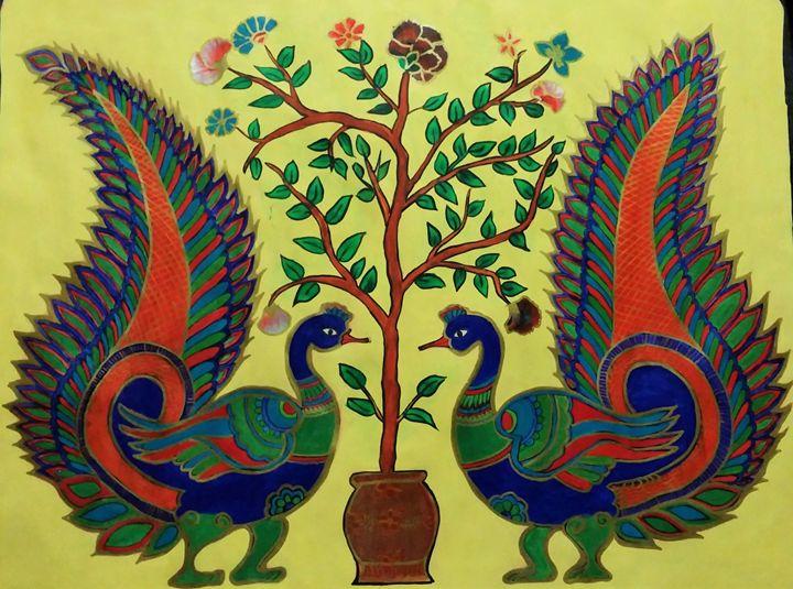 Dancing Peacock - Aalekh
