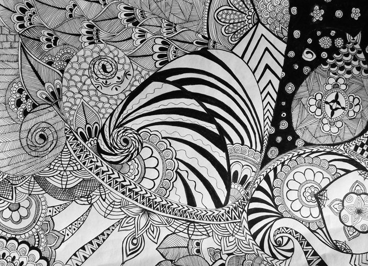White & Black Doodle - Aalekh