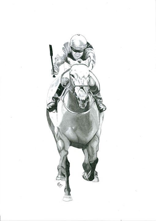 Horse and Jockey - Gavart