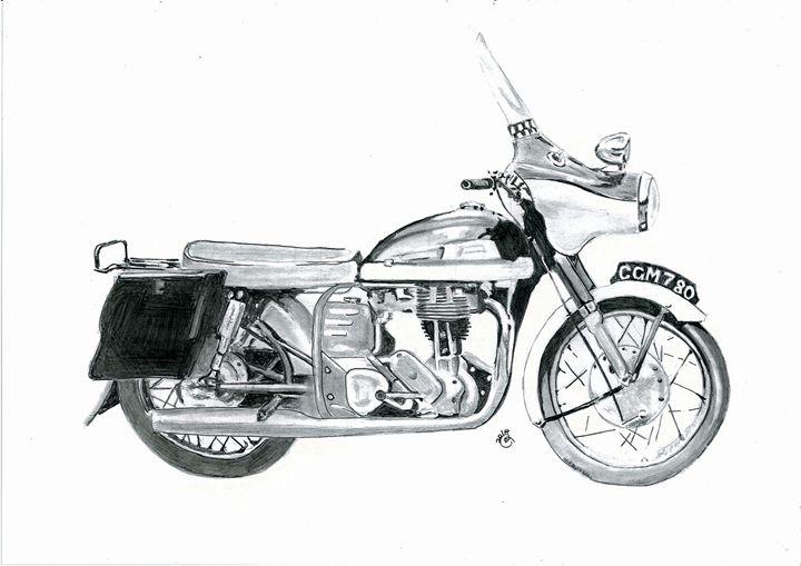 Norton motor bike - Gavart