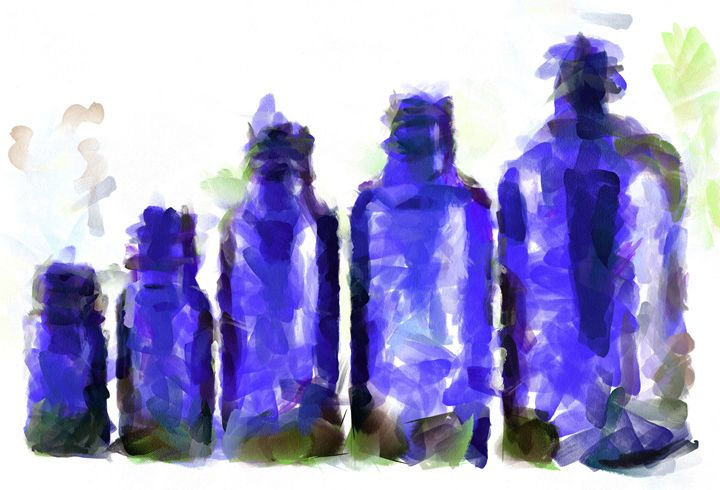Bottles in Blue - Gavart