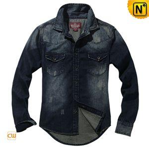 Men Long Sleeve Denim Shirt CW114301