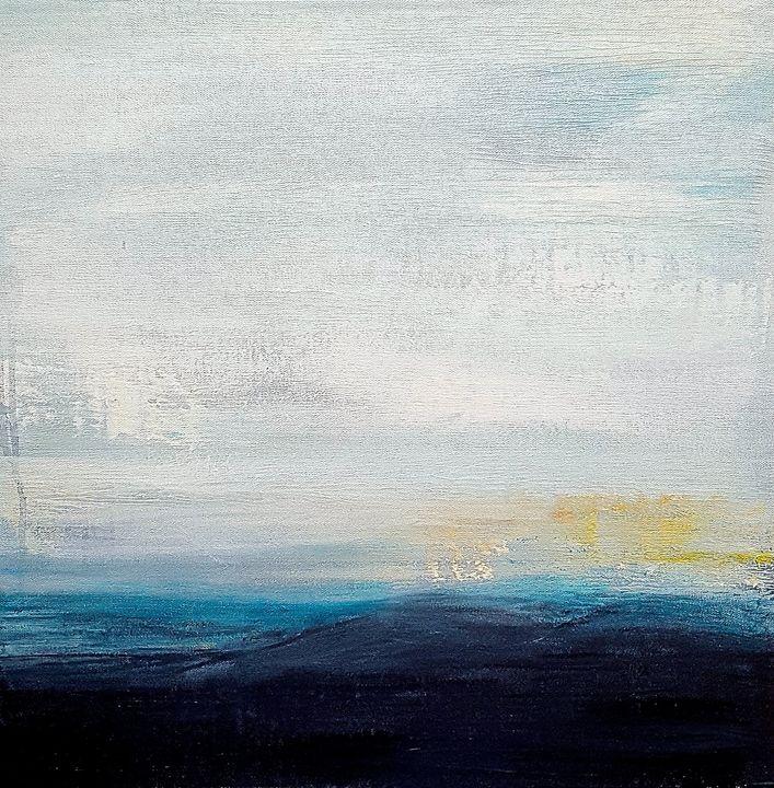 "Misty Mountains-SOLD - ""Wildspringartstudio"" Laura Spring"