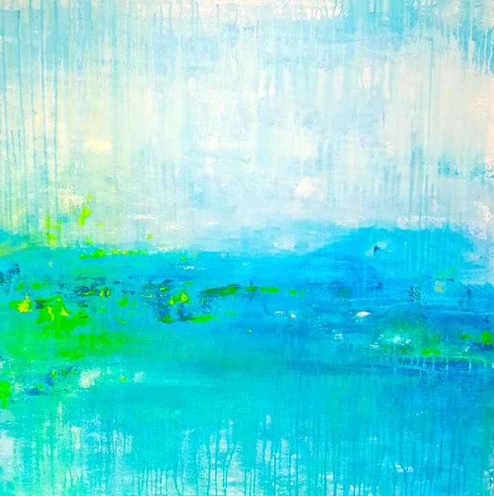 "April Showers - SOLD - ""Wildspringartstudio"" Laura Spring"