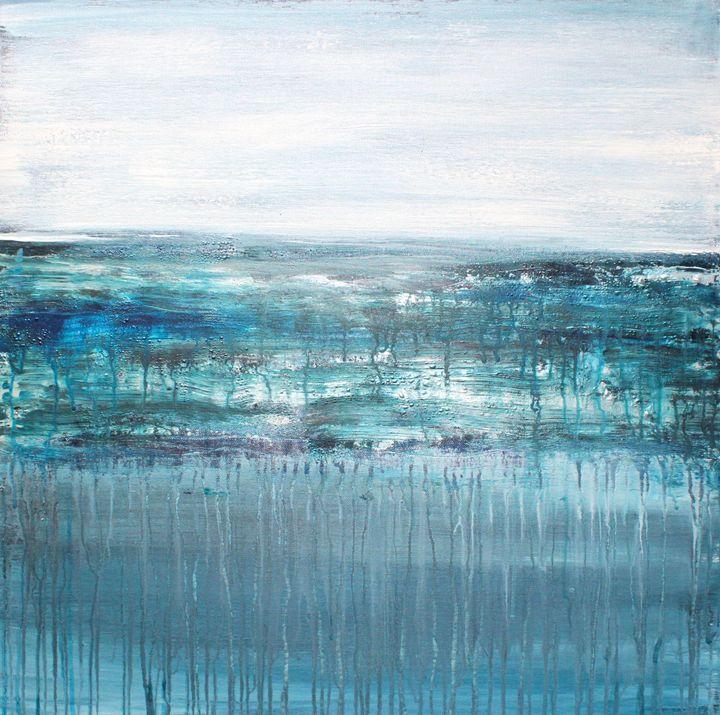 "Sinking Back Into The Ocean - SOLD - ""Wildspringartstudio"" Laura Spring"