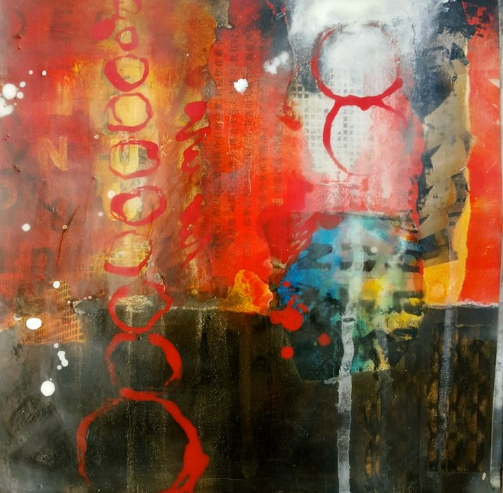 "Encaustic abstract - ""Wildspringartstudio"" Laura Spring"