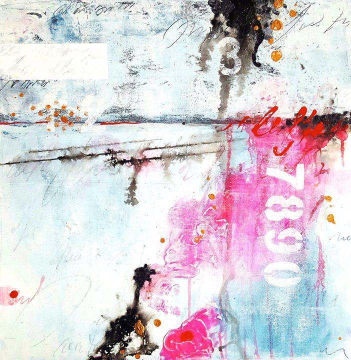 """abstract 7890-SOLD - """"Wildspringartstudio"""" Laura Spring"""