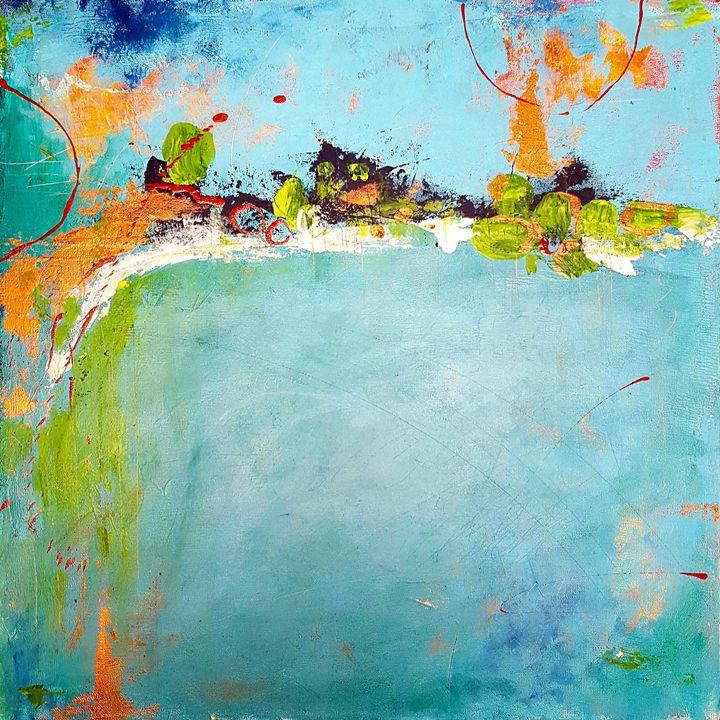"""Torquoise spot - """"Wildspringartstudio"""" Laura Spring"""