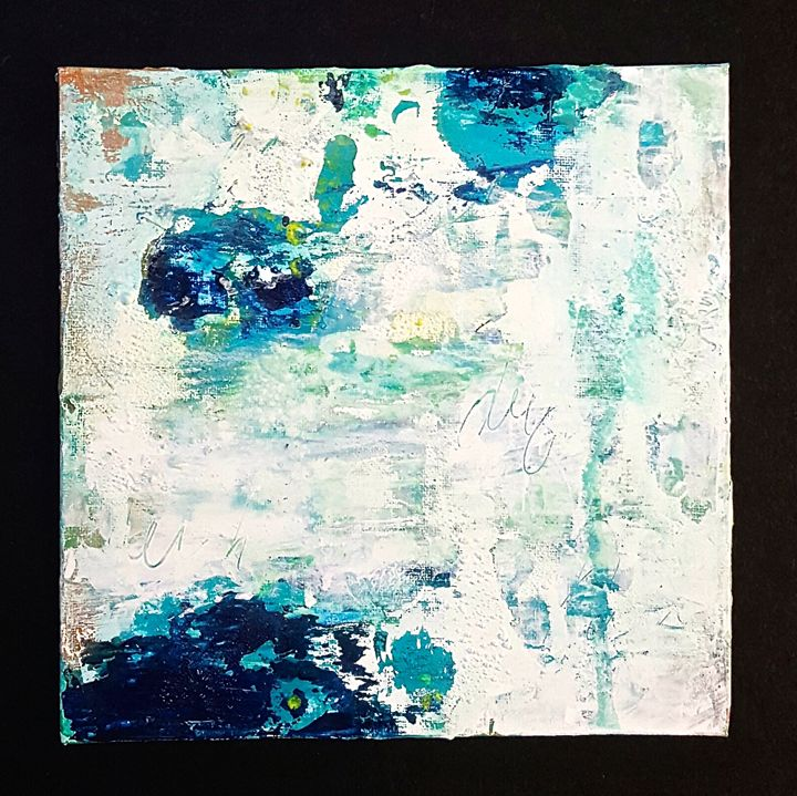 "small abstract painting on canvas - ""Wildspringartstudio"" Laura Spring"
