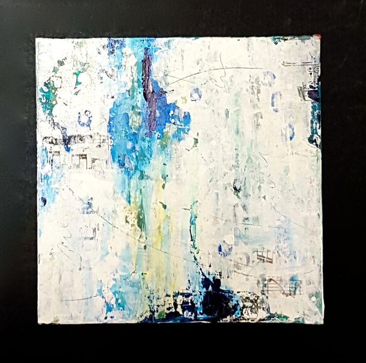 "small abstract painting - ""Wildspringartstudio"" Laura Spring"